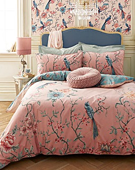 Joe Browns Exotic Bird 200 Thread Count Cotton Reversible Duvet Cover Set