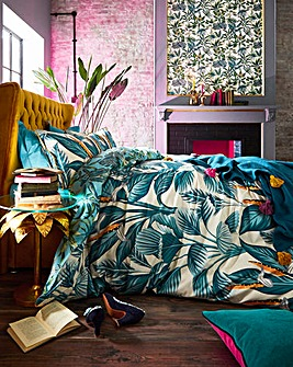 Joe Browns Tropical Printed 200 Thread Count Reversible Cotton Duvet Set