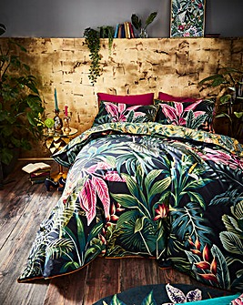 Joe Browns Vibrant Floral 200 Thread Count Cotton Reversible Duvet Set