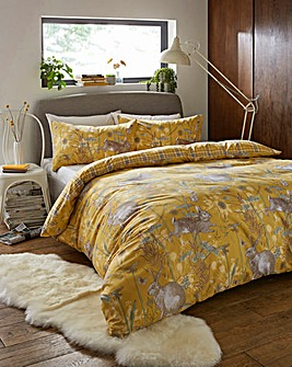 Rabbit Meadow Reversible Duvet Set