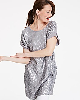 Sequin Front Tunic