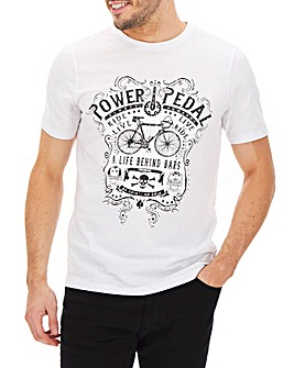 Short Sleeve Print Front T-Shirt