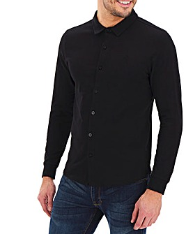 Long Sleeve Button Through Pique Polo
