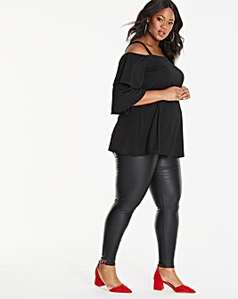 Maternity Chloe Coated Skinny Jean