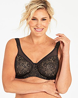 Berlei Lace Wired Black/Nude Minimiser Bra