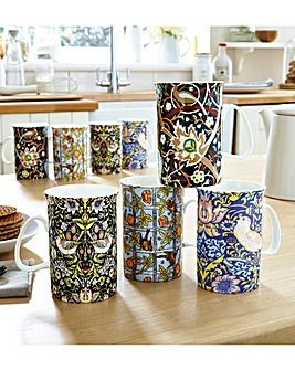 William Morris China Mug Set 8