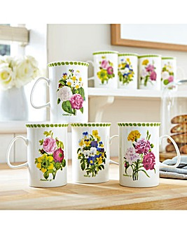 Spring Posy China Mugs 8