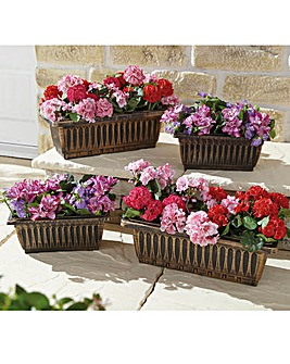 Trough Style Planters Set of 4
