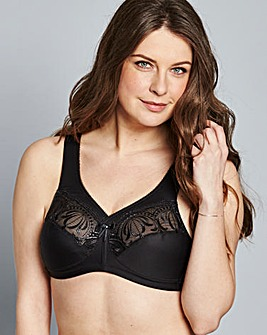 Glamorise Full Cup Non Wired Black Bra