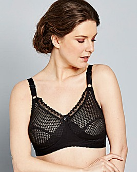 Miss Mary Cotton Rich Black Bra