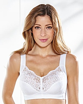 Miss Mary Cotton Rich Non Wired White Bra