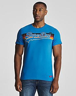 Superdry Vintage Label Cali Stripe T-Shirt