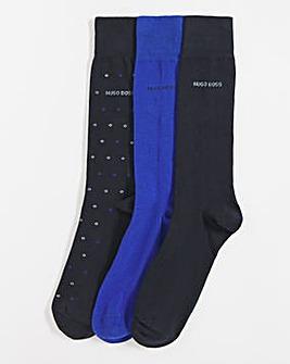 BOSS Blue 3 Pack Socks Gift Box