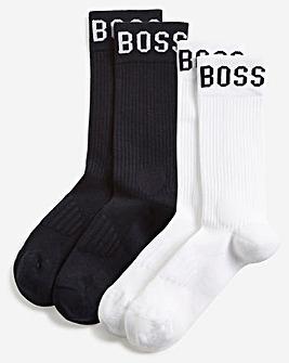 BOSS Multi 2 Pack Soft Logo Sport Socks