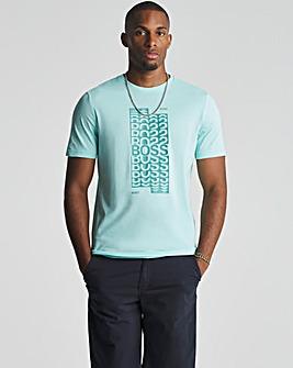 BOSS Blue Short Sleeve Graphic Logo T-Shirt