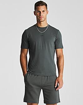 BOSS Dark Green Short Sleeve Relaxed Fit Logo T-Shirt