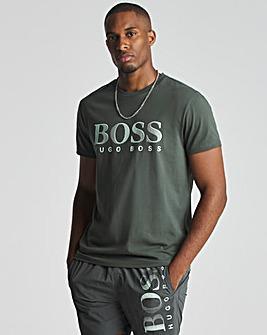BOSS Dark Green Short Sleeve UPF 50+ Logo Beach T-Shirt