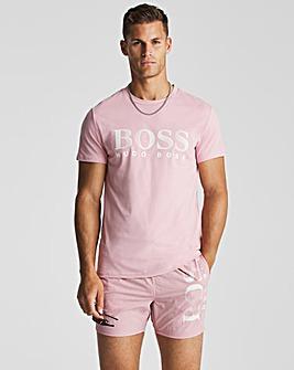 BOSS Pink Short Sleeve UPF 50+ Logo Beach T-Shirt