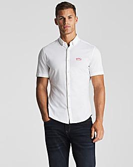 BOSS White Short Sleeve Regular Shirt
