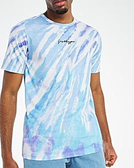 Hype Blue Tone Tie Dye T-Shirt