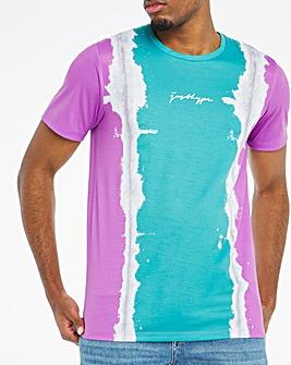 Hype Purple Stripe Tie Dye T-Shirt