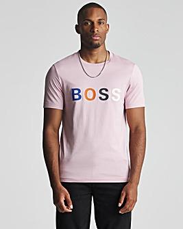BOSS Pastel Pink Smart Short Sleeve Logo T-Shirt