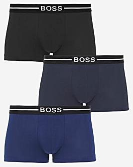 BOSS Blue 3 Pack Organic Cotton Trunks