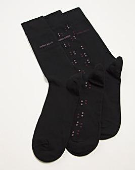 BOSS Black 3 Pack Socks Gift Box