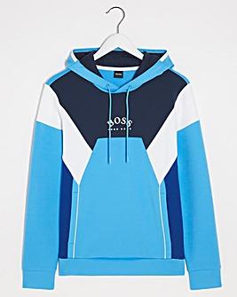 BOSS Open Blue Colourblock Hoodie