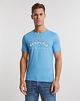 BOSS Open Blue Short Sleeve Logo T-Shirt