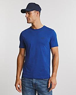 BOSS Bright Blue Short Sleeve Curved Logo T-Shirt