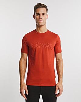 BOSS Medium Red Smart Short Sleeve Logo T-Shirt