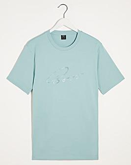 BOSS Turquoise Smart Short Sleeve Script T-Shirt