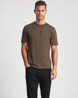 BOSS Dark Green Short Sleeve Centre Logo T-Shirt