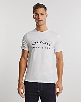 BOSS White Short Sleeve Logo T-Shirt