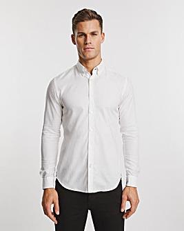 BOSS White Smart Longsleeve Shirt