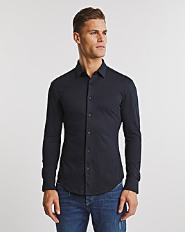 BOSS Dark Blue Smart Longsleeve Slim Stretch Shirt