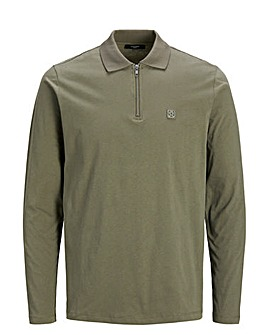 Jack & Jones Premium Frontier Long Sleeve Zip Polo