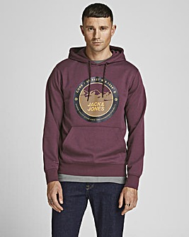 Jack & Jones Grape Bilo Hooded Sweatshirt