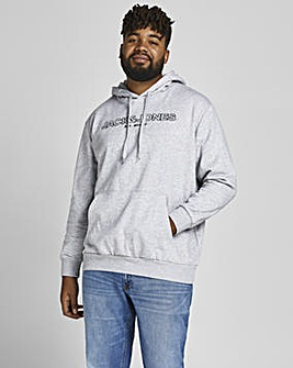 Jack & Jones Light Grey Marl Bank Hooded Sweatshirt