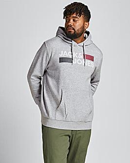 Jack & Jones Light Grey Marl Corp Logo Sweatshirt