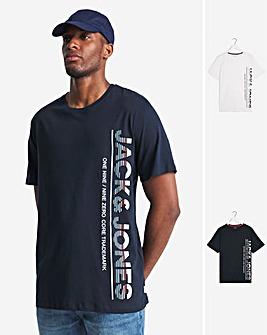 Jack & Jones Structure 2 Pack T-Shirts