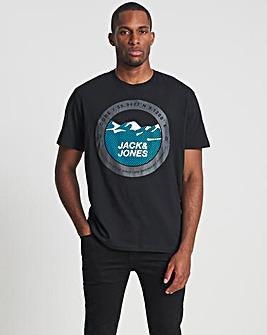 Jack & Jones Black Bilo Crew Neck T-Shirt