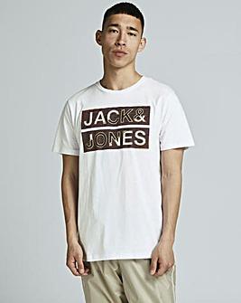 Jack & Jones White Space Logo T-Shirt