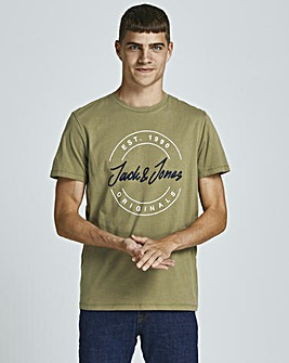 Jack & Jones Martini Olive Jerry Crew Neck T-Shirt
