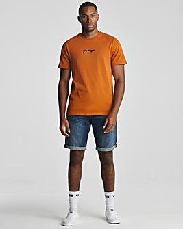 Hype Burnt Orange Scribble T-Shirt