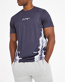 Hype Charcoal Dye Line T-Shirt