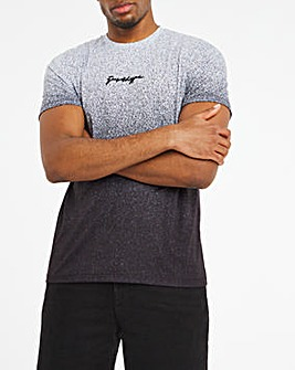 Hype Black Speckle Fade T-Shirt