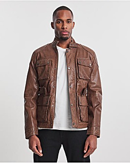 Joe Browns Brown Four Pocket Leather Jacket