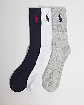 Polo Ralph Lauren 3 Pack Big Pony Sport Socks